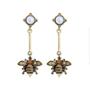 Jewelry - Bumble Bee Dangle Crystal Statement Earrings